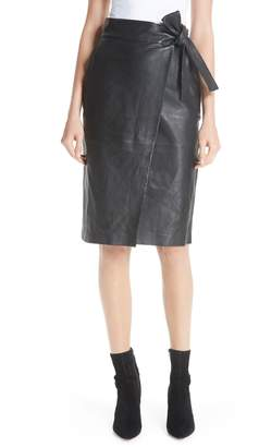 BA&SH Magic Wrap Leather Skirt