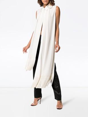 Givenchy Fringe-trimmed Silk-crepe Top