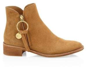 Gucci See by Chloé See by Chloé Women's Louise Suede Flat Boots - Tan - Size 39.5 (9.5)