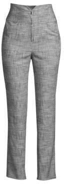 Rebecca Taylor Women's High-Rise Plaid Pants - Black Combo - Size 8