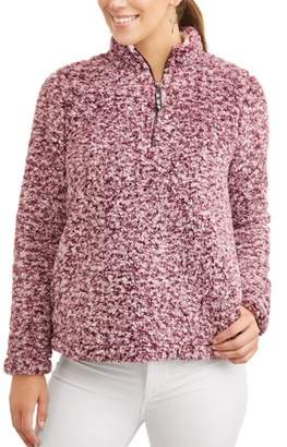Time and Tru Women's Snow Tipped Quarter Zip Jacket