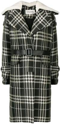 Self-Portrait checked coat
