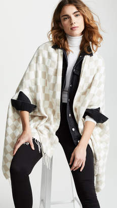 Madewell Checkerboard Cape Scarf