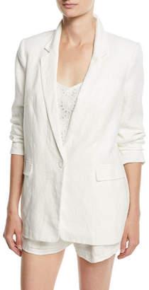 Joie Kishina One-Button Linen Blazer