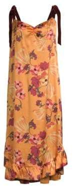 Mother of Pearl Women's Genevive Floral Slip Dress - Autumn Bloom - Size 14