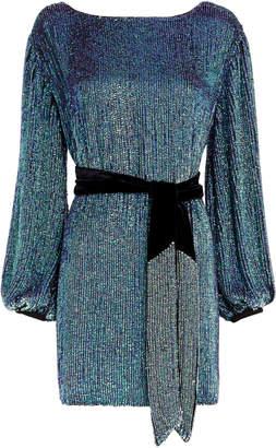 Retrofête Grace Turquoise Sequin Mini Dress