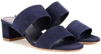 Mansur Gavriel 40mm Double Strap suede sandals