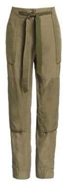 Rag & Bone Rag& Bone Women's Henri Silk Cropped Cargo Pants - Light Olive - Size 4