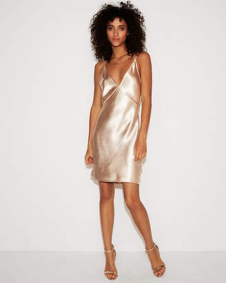 Express Satin Cowl Back Slip Dress