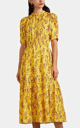 Ulla Johnson Women's Corrine Floral Silk Dress - Yellow
