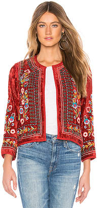 Velvet by Graham & Spencer Velvet Embroidered Jacket
