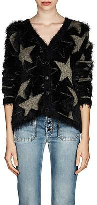 Saint Laurent Women's Star-Pattern Cardigan - Black