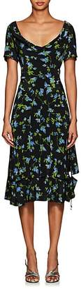 Altuzarra Women's Lucia Floral Silk Dress - Black