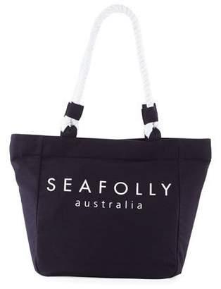 e233a9dfdda0 ... Seafolly Carried Away Canvas Rope Beach Tote Bag