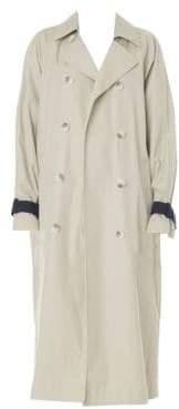 Tibi Women's Hani Convertible Cotton Plaid Trench Coat - Stone Multi - Size XS