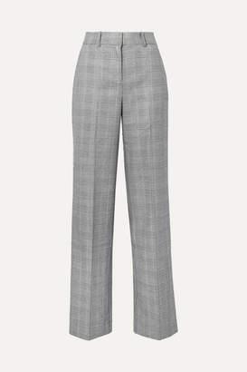 Equipment Tabitha Simmons Hyperion Prince Of Wales Checked Voile Wide-leg Pants - Gray