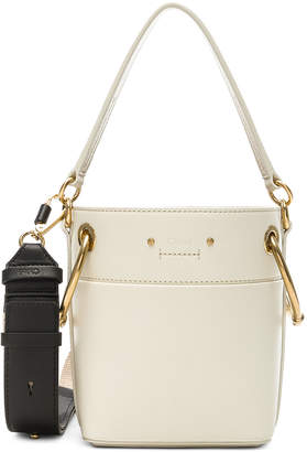Chloé Mini Roy Calfskin Bucket Bag in Natural White | FWRD
