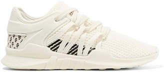 adidas Eqt Racing Adv Faux Suede-trimmed Stretch-knit And Neoprene Sneakers - Off-white