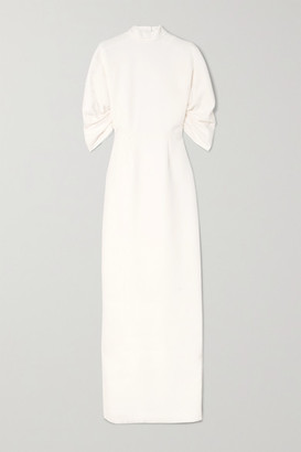 Emilia Wickstead Sharonella Open-back Wool-crepe Dress - Ivory