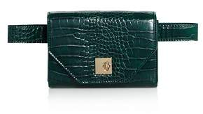 Aqua Medium Croc-Embossed Convertible Belt Bag - 100% Exclusive