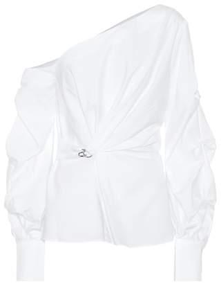 Jonathan Simkhai Asymmetric cotton blouse