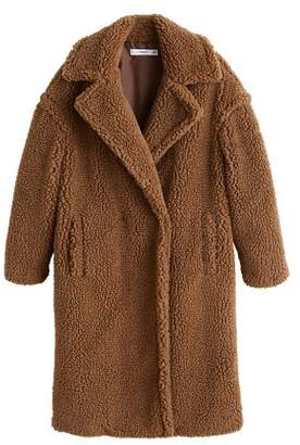 MANGO Faux shearling oversized coat