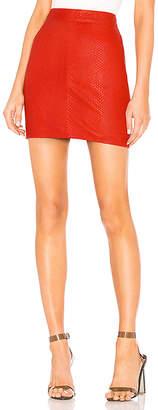 NBD X by Mishka Leather Mini Skirt