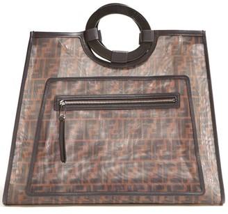 Fendi Runaway Ff Print Mesh Tote Bag - Womens - Brown Multi