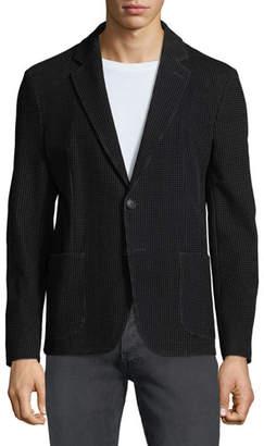 Emporio Armani Men's Soft Flocked Velvet Two-Button Blazer Jacket