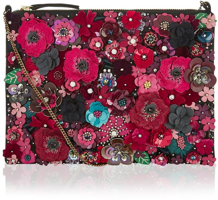 Accessorize Mabel D Floral Clutch Bag Shopstyle Co Uk Women