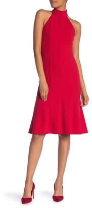Donna Morgan Mock Neck Sleeveless Fit & Flare Midi Dress