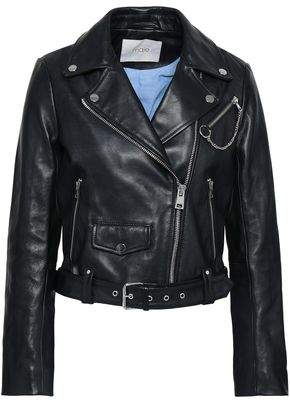Maje Bassung Leather Biker Jacket