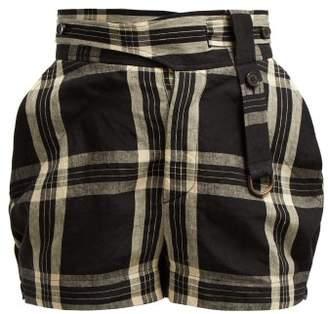 Vivienne Westwood Checked Linen Shorts - Womens - Black Multi