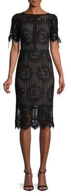 Tadashi Shoji Short-Sleeve Lace Sheath Dress