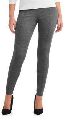 Time and Tru Women's Skinny Zip Back Ponte Pant