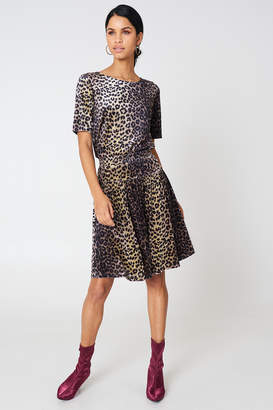 Qontrast X Na Kd Leopard Velvet Top Leopard