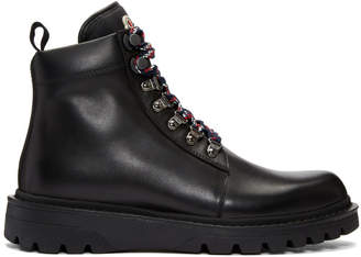 Moncler Black Isaac Lace-Up Boots
