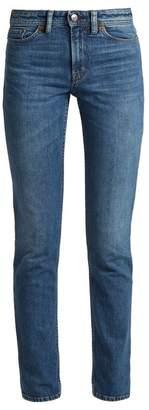 Acne Studios Bla Konst South Mid Rise Straight Leg Jeans - Womens - Mid Blue