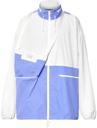 Maison Margiela Oversized Colour-Block Ripstop Jacket