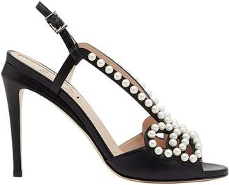 Fendi faux pearl-embellished sandals