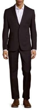 Versace Solid Woolen Jacket & Pants Set