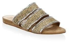 Schutz Women's Belloni Flat Sandals - Natural - Size 6.5