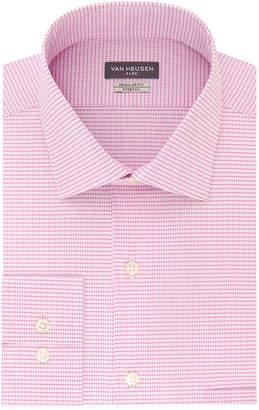Van Heusen Flex Collar Big And Tall Mens Spread Collar Long Sleeve Wrinkle Free Stretch Dress Shirt