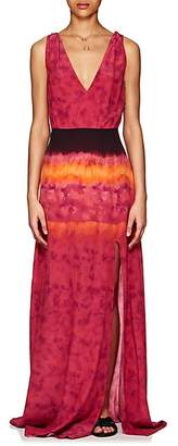 Altuzarra Women's Tie-Dyed Crepe Maxi Dress - Ceramic Red