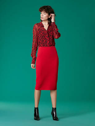 Diane von Furstenberg Sweater Pencil Skirt