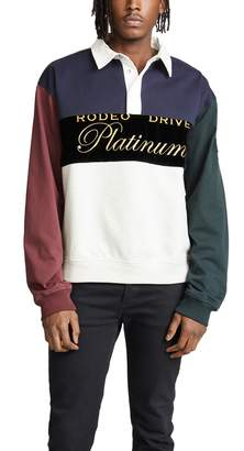 Alexander Wang Platinum Rugby Jersey Pullover