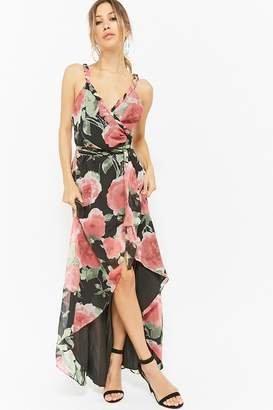 Forever 21 High-Low Floral Wrap Dress