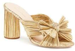 Loeffler Randall Women's Penny Pleated Knotted High Heel Sandals - Gold - Size 5.5