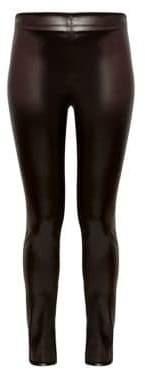 Theory Women's Skinny Vegan Leather Leggings - Mink Brown - Size 0