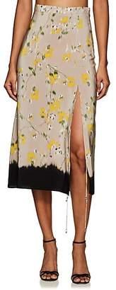 Altuzarra Women's Felice Floral Silk Skirt - Beige, Tan